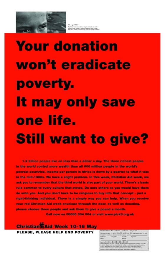 Christian Aid, RED 'Only one life?'. CDD-01
