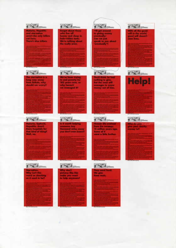 Christian Aid, RED, Page of roughs - C, CDD-01