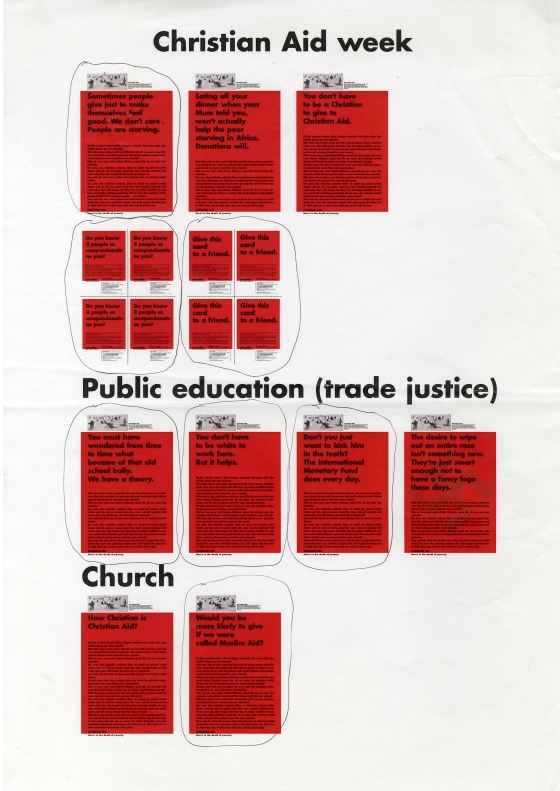 Christian Aid, RED, Sheet of roughs - A, CDD-01