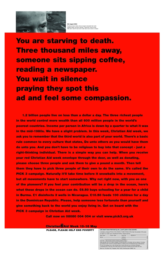 Christian Aid, RED, 'You are', CDD-01