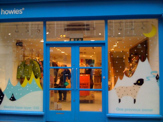 howies shop front