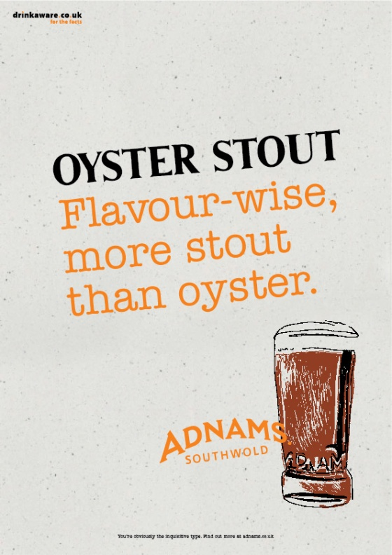 Adnams Beer Posters %22Oyster Stout%22-01