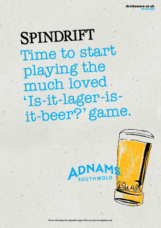 Adnams Beer Posters %22Spindrift%22-01