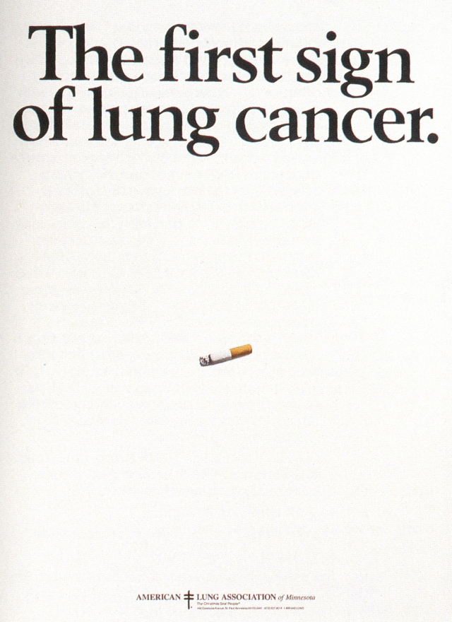 Fallon McElligott, Anti Smoking 'First Sign'-01