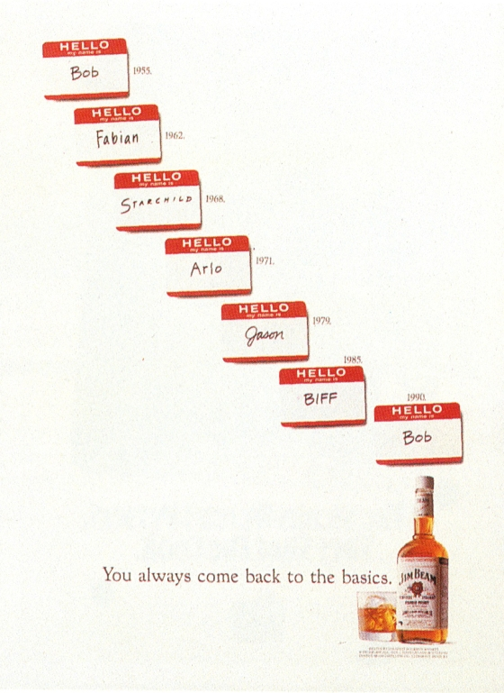 Fallon McElligott, Jim Beam 'Name Tags' -01