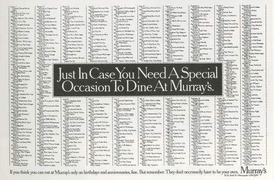 Fallon McElligott, Murray's 'Excuse'-01