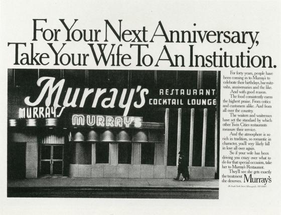 Fallon McElligott, Murray's, 'Institution', -01-01
