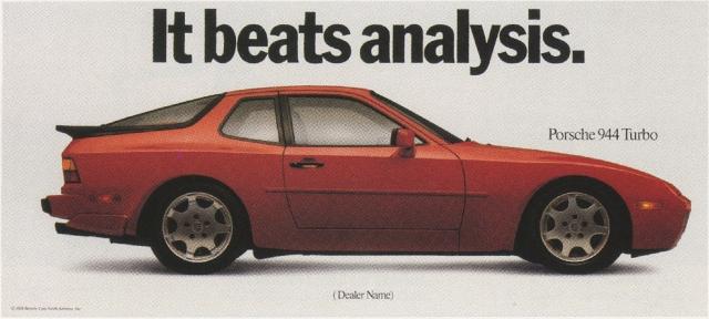 Fallon McElligott, Porsche 'It beats'-01