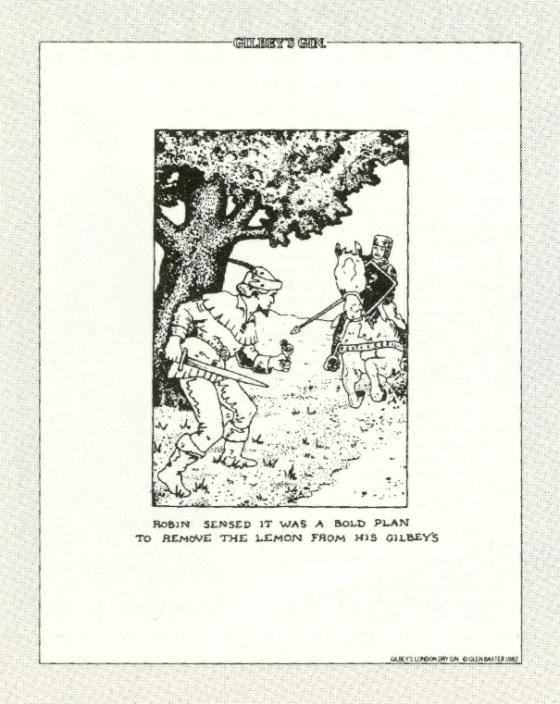 Gilbey's Gin, Glen Baxter, CDP 'Robin Hood'-01