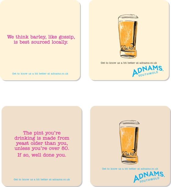 beer mats three