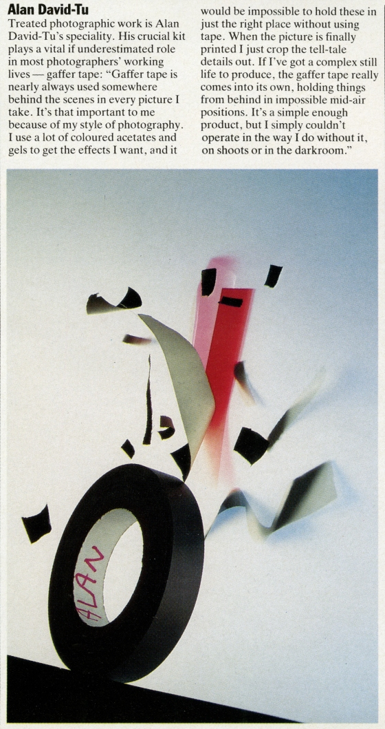 Alan David Tu, Roll tape, Direction article-01