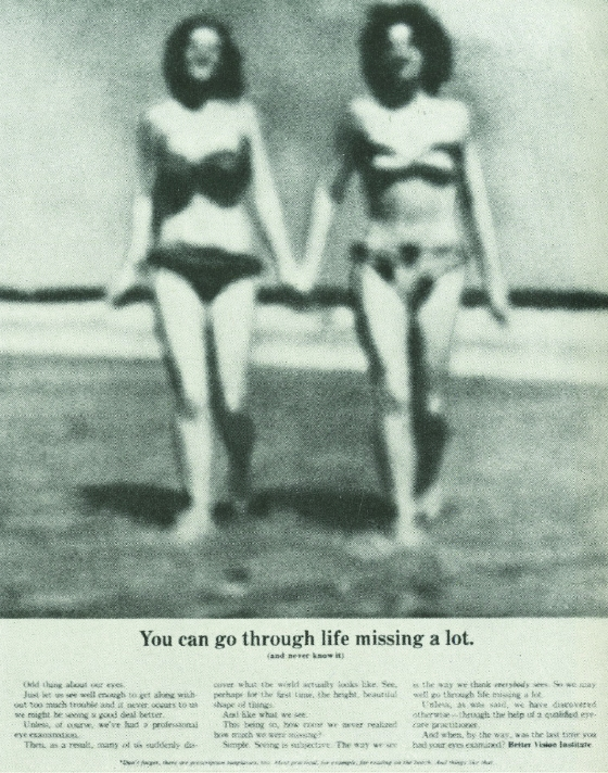Better Vision Institute 'Blurry Girls' Len Sirowitz, DDB-01