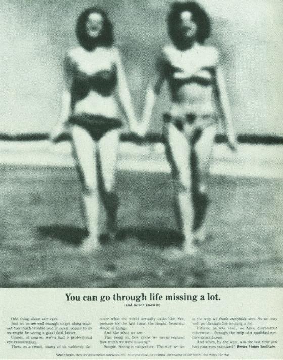 Better Vision Institute 'Blurry Girls' Len Sirowitz, DDB-01