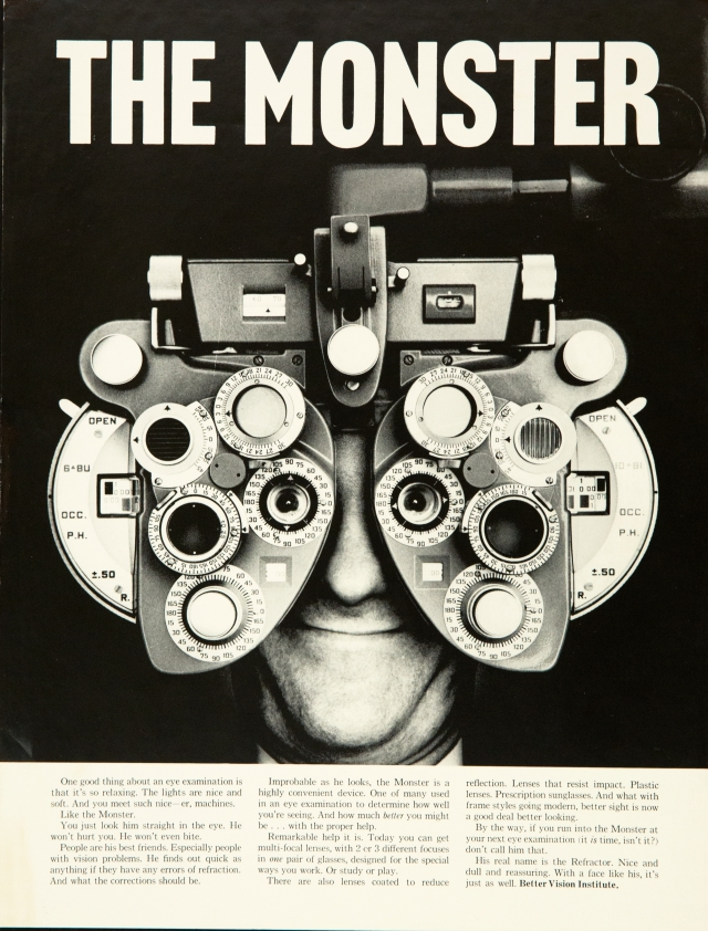 Better Vision Institute 'Monster' Len Sirowitz, DDB