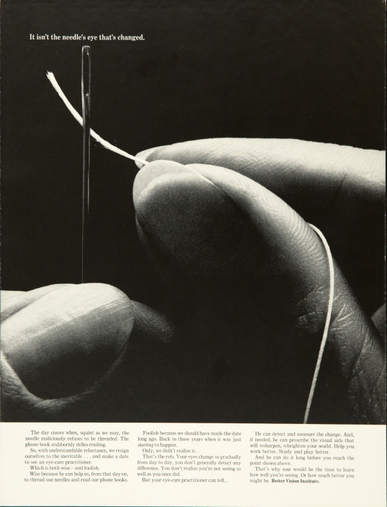Better Vision Institute 'Needle' Len Sirowitz, DDB
