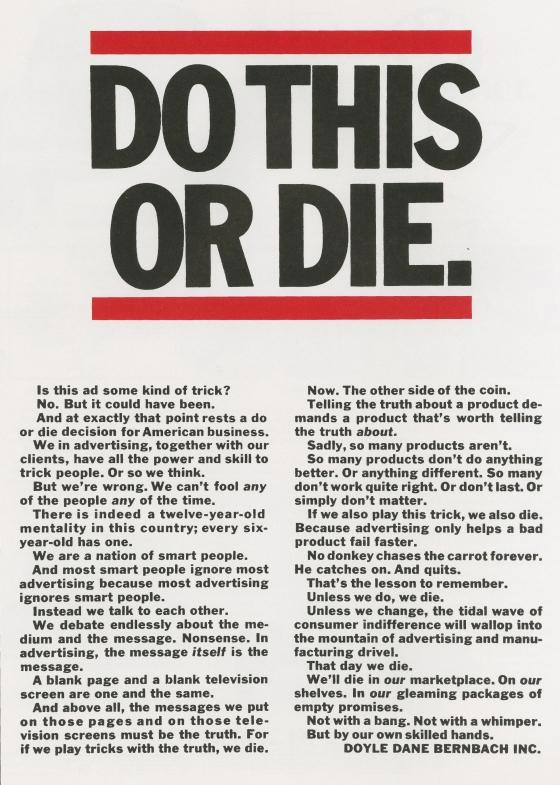 DDB, 'Do This Or Die', Len Sirowitz-01