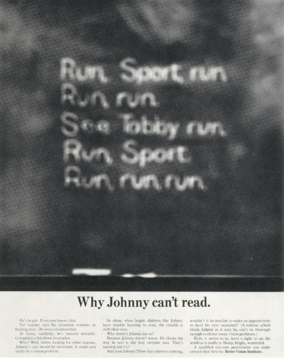 Len Sirowitz, Better Vision Institute 'See Johnny'. DDB-01