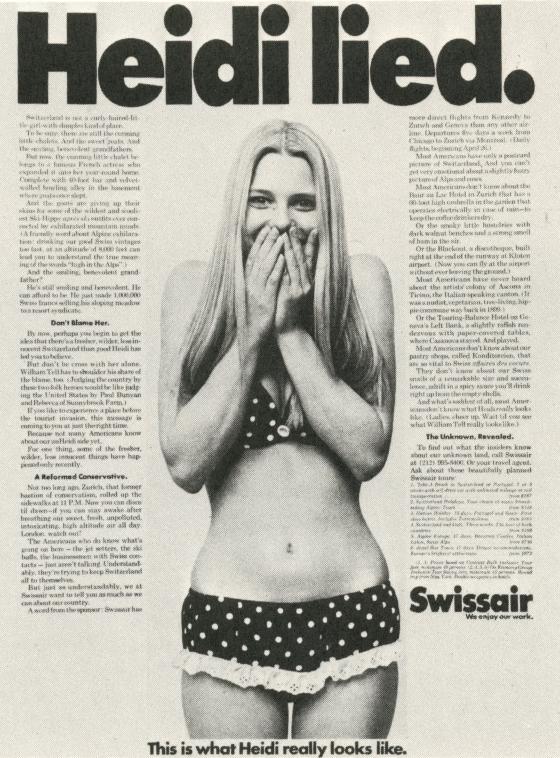 Len Sirowitz, Swissair 'Heidi Lied'-01