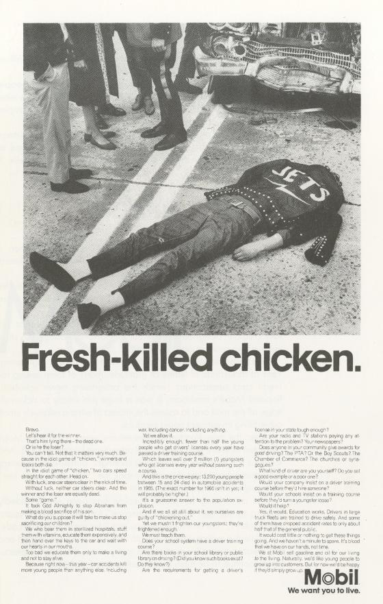 Mobil 'Fresh Killed...' Len Sirowitz, DDB-01