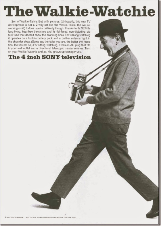 Sony walkie-watchie, Nov 07, 1964