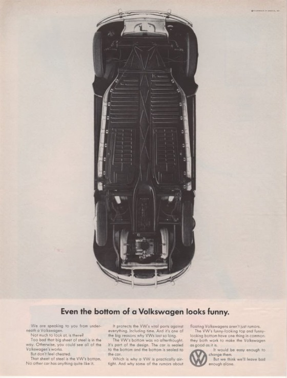 VW 'Even The Bottom' Len Sirowitz:Bob Levenson. DDB