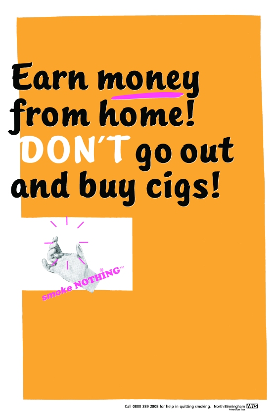 CDD, Anti-smoking 'Earn Money At Home'-01