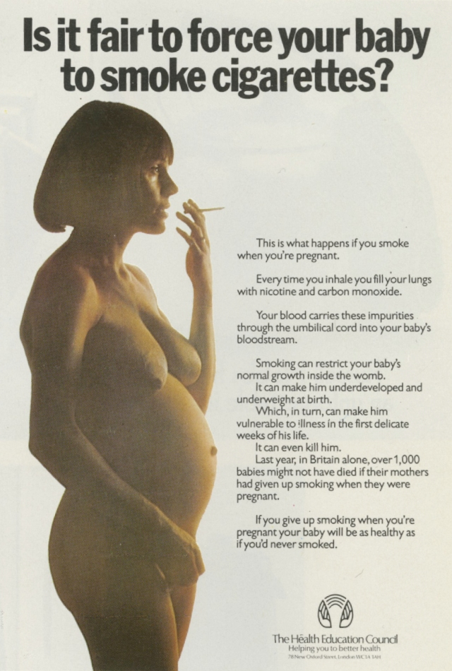 Jeremy Sinclair, 'HEC, 'Pregnant Smoking', Saatchi's-01