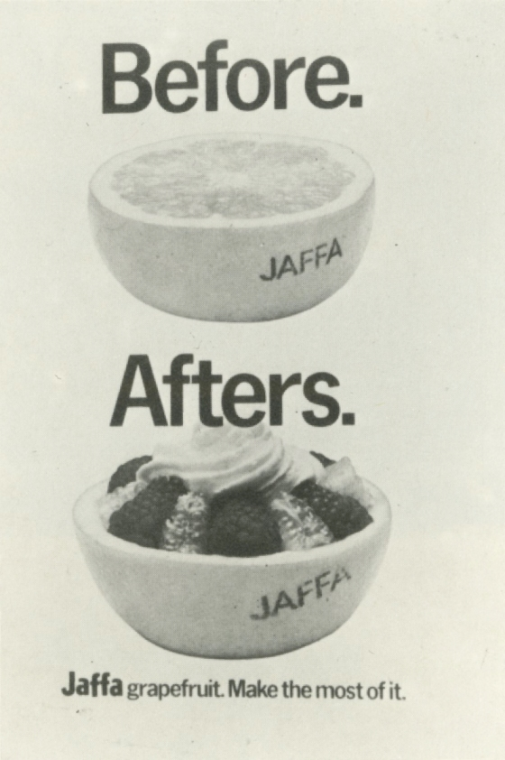 Jeremy Sinclair, 'Jaffa - Before', Saatchi's-01