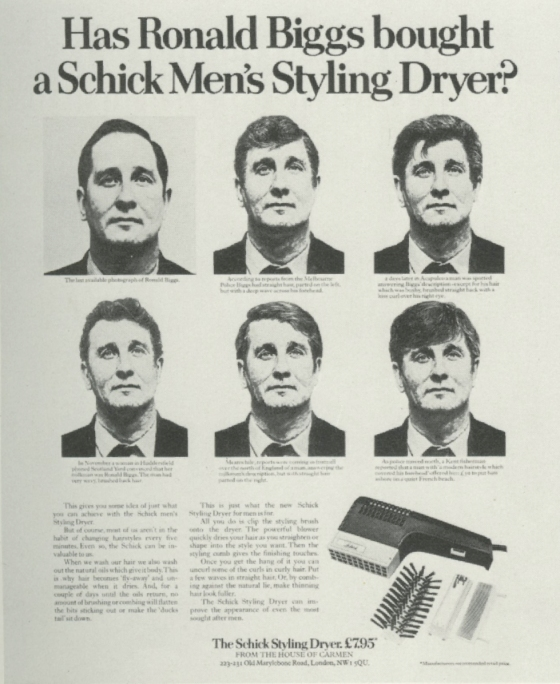 Jeremy Sinclair, 'Ronnie Biggs', Schick, Saatchi's-01