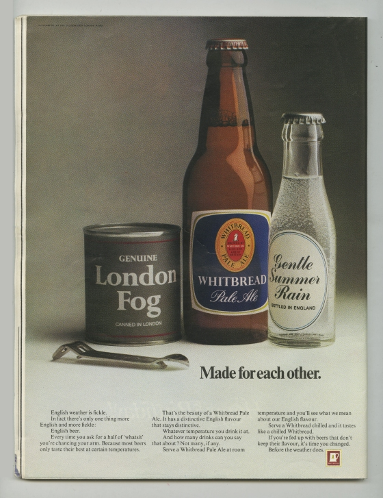 'London Fog', Whitbread, Alan Parker, CDP-01