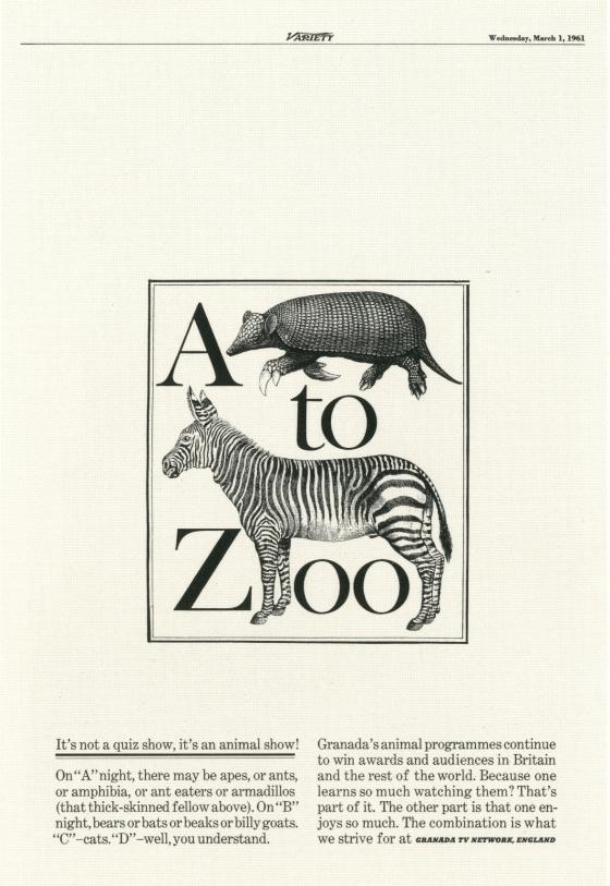 PKL, The First Year, Granada TV 'A-Zoo'-01