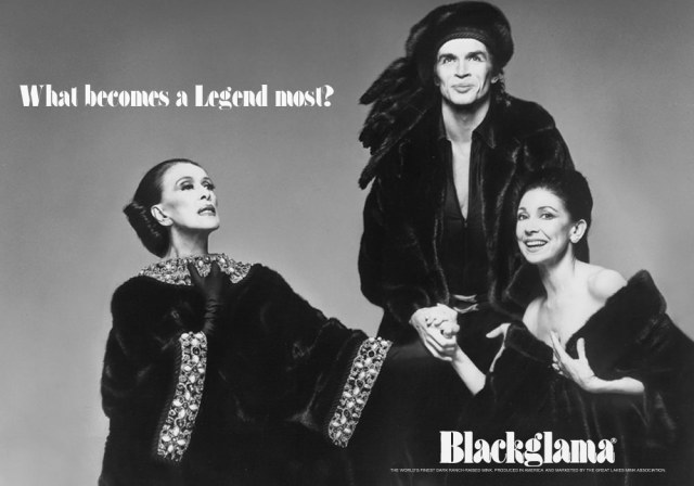 Blackgamma ad - 1976 Martha graham, Rudolf nureyev, Margot fonteyn