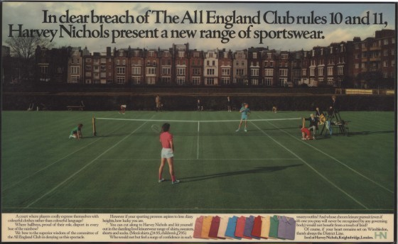 Harvey Nichols, 'All England', Leagas Delaney