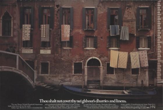 Harvey Nichols, 'Dhurries', Leagas Delaney