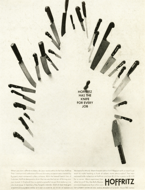 Jane Trahey - Hoffritz 'Throwing Knives'*
