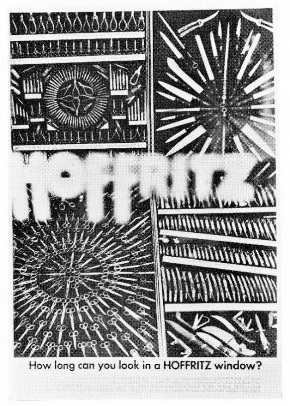 Jane Trahey, Hoffritz 'Window' ad