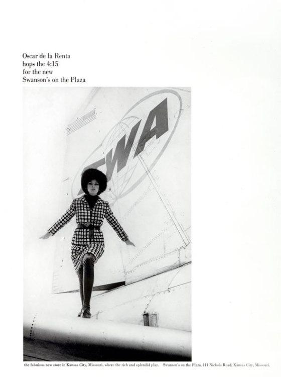 Jane Trahey, Oscar DeLaRenta 'Plane'