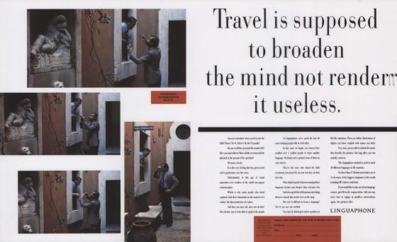 Linguaphone, 'Travel is supposed', Leagas Delaney