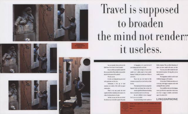 Linguaphone, 'Travel is supposed', Leagas Delaney