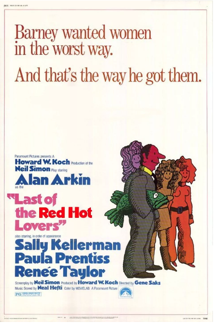 Steve Franfurt - 'Last Of The Red Hot Lovers' Poster