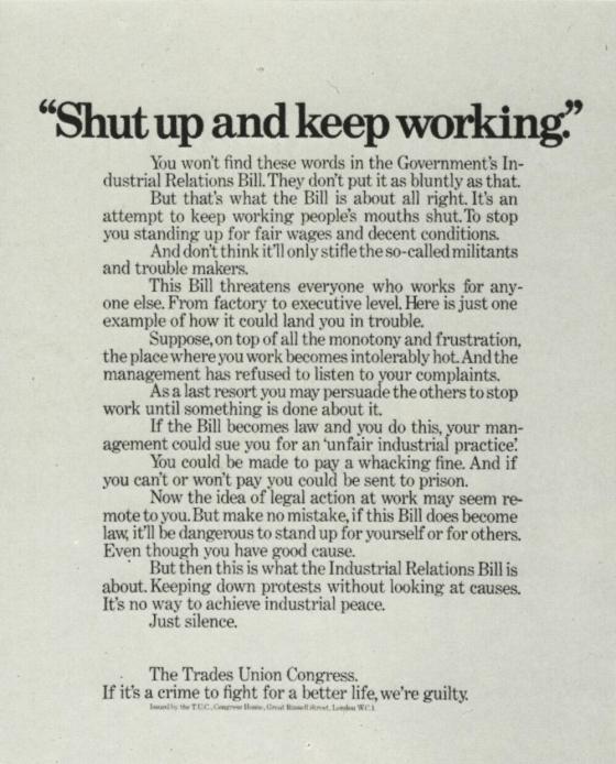 Tim Delaney, Trade Union 'Shut Up',BMP*