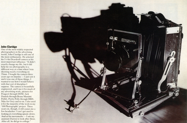 John Clarridge, Camera article-01