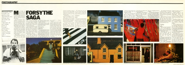 Max Forsythe, Creative Review Article, 1984-01