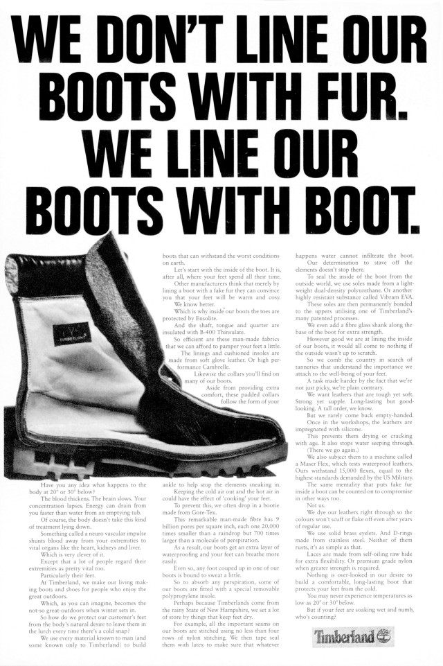 Tim Delaney, Timberland 'Boot'