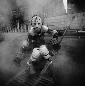 Arthur Tress 'Street Hockey' NY