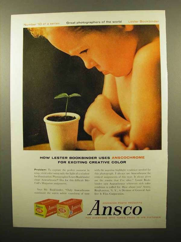 Ansco 'Lester Bookbinder', ad