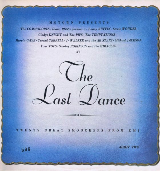 Various-The-Last-Dance-Motown-LP, John O'Driscoll:CDP