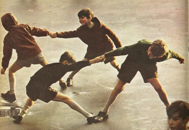Robert Freson, 'Boys Pulling'-01