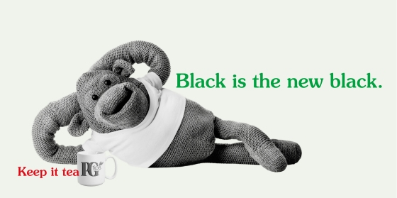 PG tips 'Black is the' rough