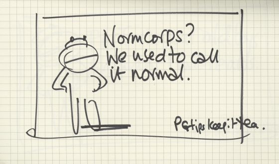 PG tips 'Normcorps' rough-01